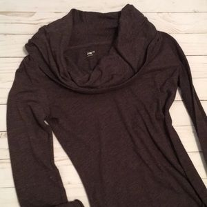 Cowl neck plum shirt